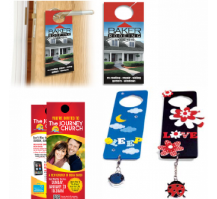 Rectangular Door Hangers Printing