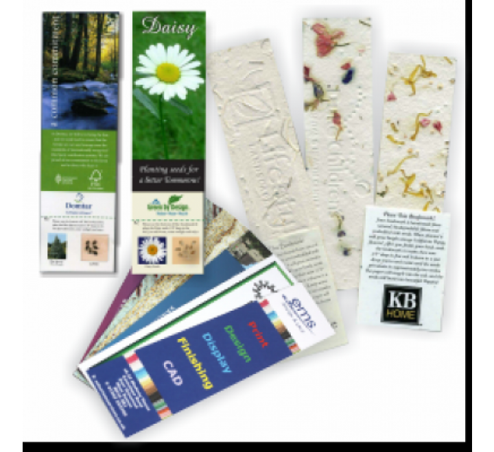 2 x 6 Bookmarks Printing