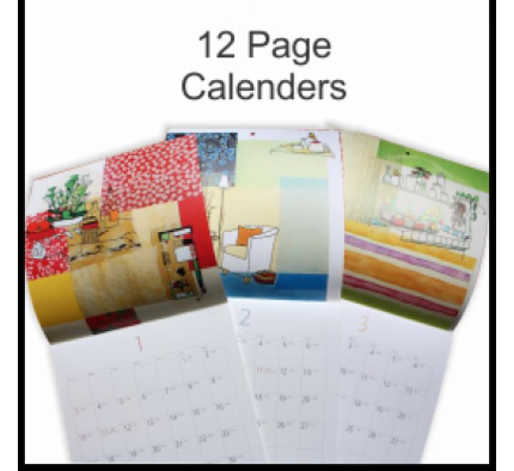 12 Page Calendar Printing