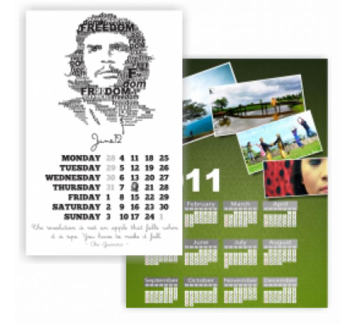 A4 Size Calendar