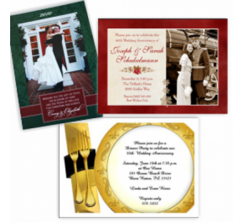 Anniversary Invitation Cards Printing
